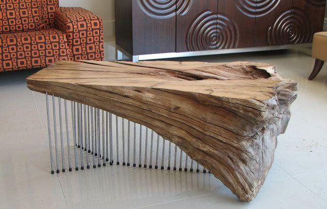 Stunning driftwood coffee table by Ryan Matchett Design House