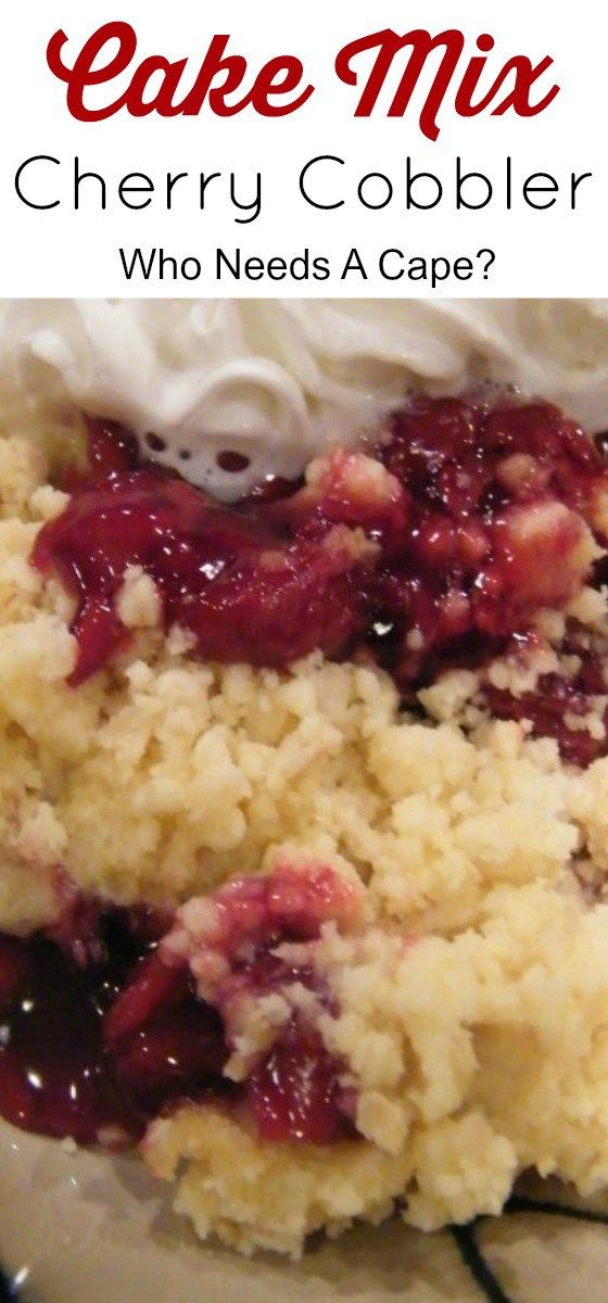 Cake Mix Cherry Cobbler the easiest and tastiest dessert that you can make with ingredients from your pantry. You'll be amazed at how simple this recipe is. (Cherry Dessert Recipes)