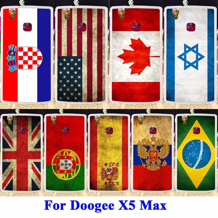 Flexible Silicon Cell Phone Cases For Doogee X5 Max Pro X5 Max Shell Covers Retro UK Russia Brazil National Flag Housing Bags #clothing,#shoes,#jewelry,#women,#men,#hats,#watches,#belts,#fashion,#style