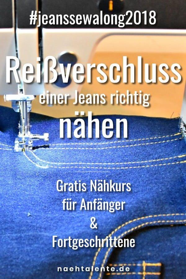 Jeans nähen Teil 8: Reißverschluss perfekt nähen mit Ziernähten und Untertritt