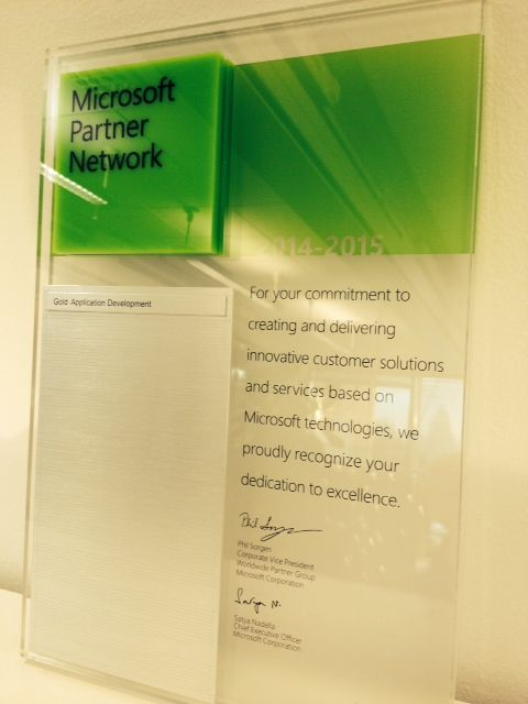 MPS Prewisen Microsoftin Gold- (Application Development) kumppanuus uusittu 2014-2015!