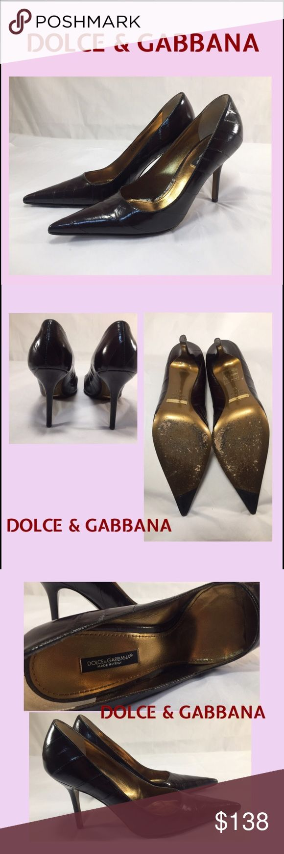 "DOLCE & GABBANA Deep Burgundy Heels DOLCE & GABBANA Deep Burgundy Heels in Ladies Size 38. Beautiful preowned condition with slight to moderate wear to soles, photographed. Heel caps and uppers look fabulous and shoes are in great condition. Heel is 3.75"". Orig. $485. Dolce & Gabbana Shoes Heels"