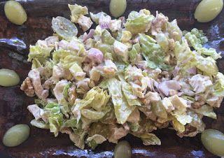 Receta de Cocina: Ensalada de pollo con uva y nueces