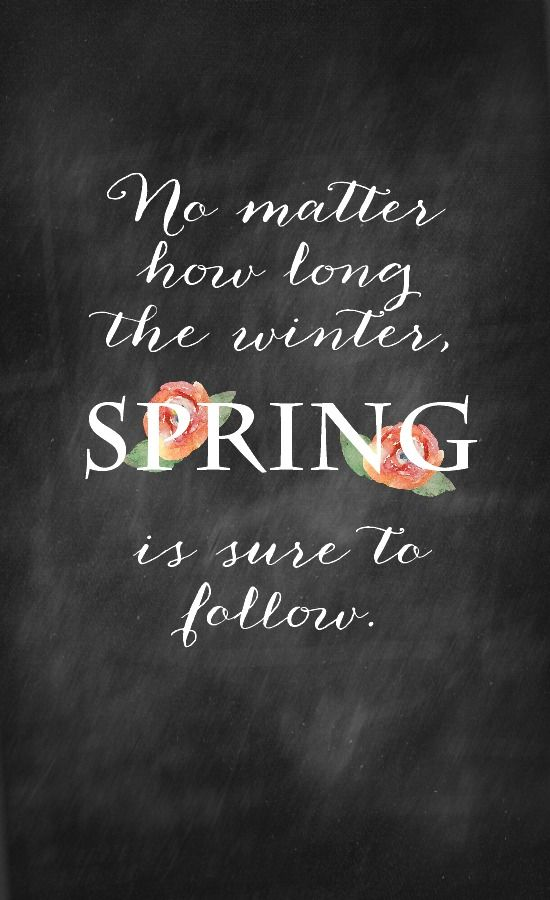 No matter how long the winter, spring is sure to follow. #wisdom #affirmations
