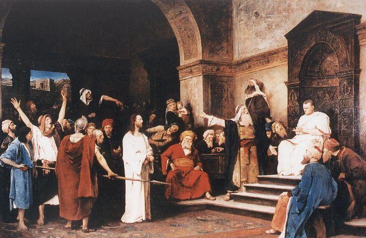 Munkácsi Mihály Krisztus Pilátus előtt