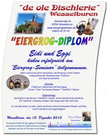 Das Eiergrog-Diplom