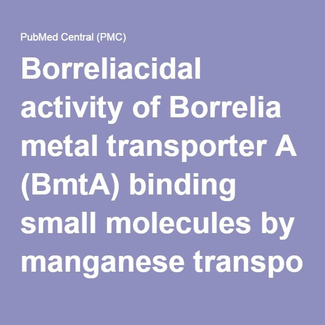 Borreliacidal Activity Of Borrelia Metal Transporter A