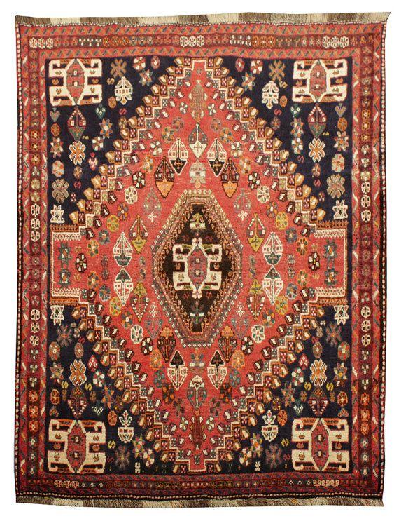 Tappeto persiano antico di cm 157 x 120 Kashkai di
