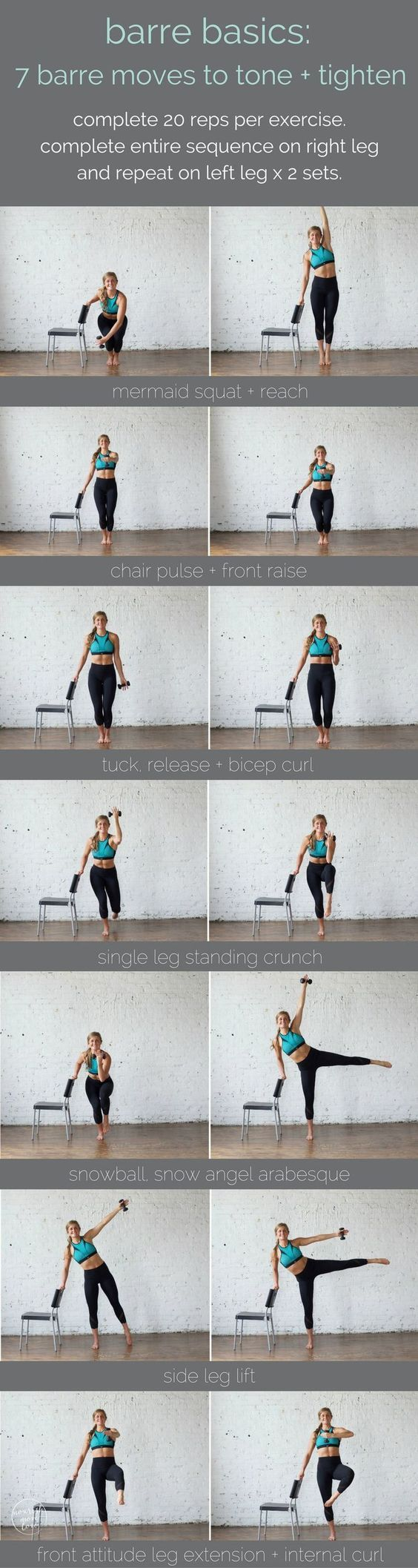 barre basics: 7 barre moves to tone + tighten