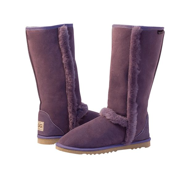 Arctic Tall Lilac Boots, Australian Made Sheepskin, #aussie #australianmade #sheepskin #boots #tallboots #shoedreams #comfy #cute #warm #indoors #home #outdoors #shoesaholic #lilac #lavender #purple #lilacboots #purpleboots  #styling #fashion #outfit #fashioninspiration