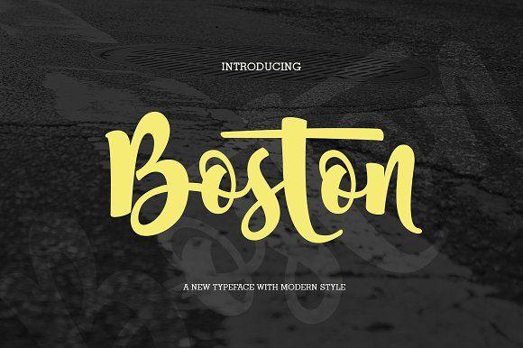 Boston (fonts duo) by jorse on @creativemarket