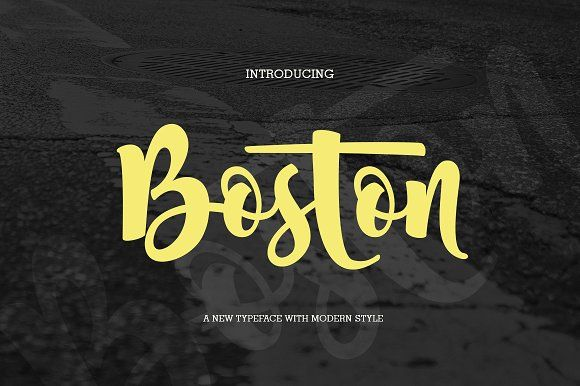 Boston (fonts duo) by jorse on @creativemarket