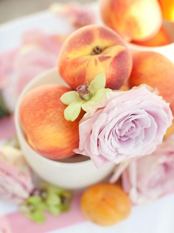 Rustic ideas plum pretty sugar wedding peach rose