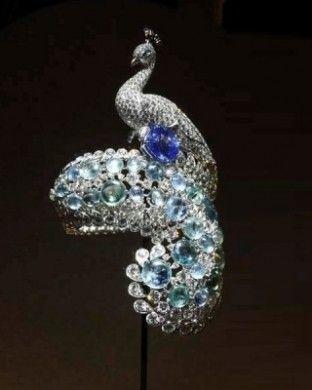 Cartier gioiello pavone