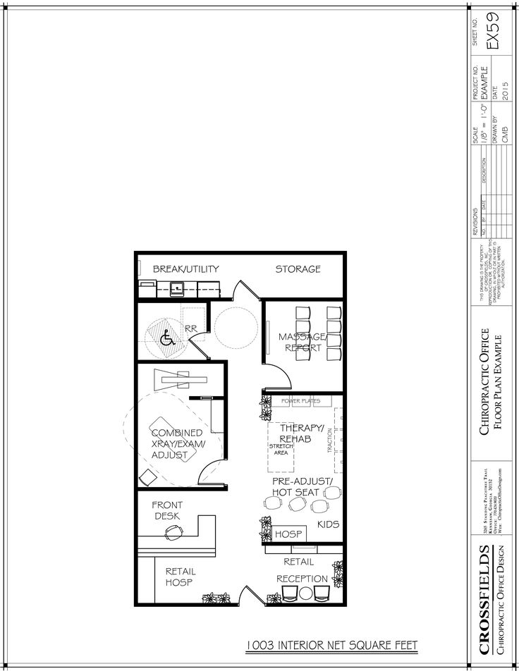 Sample Plan With Combined X-Ray/Adjustment/Exam Room