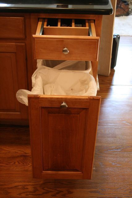 Marvelous Trash Compactor Built Into Kitchen Island