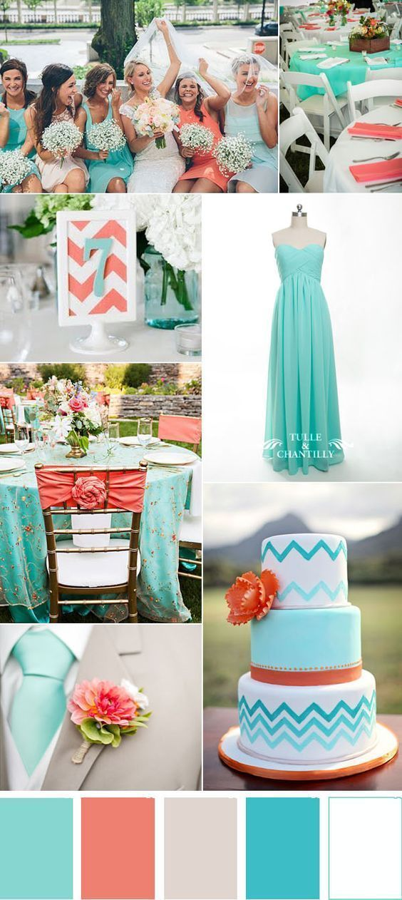 Light Blue And Coral Summer Wedding Ideas Wedding Planning