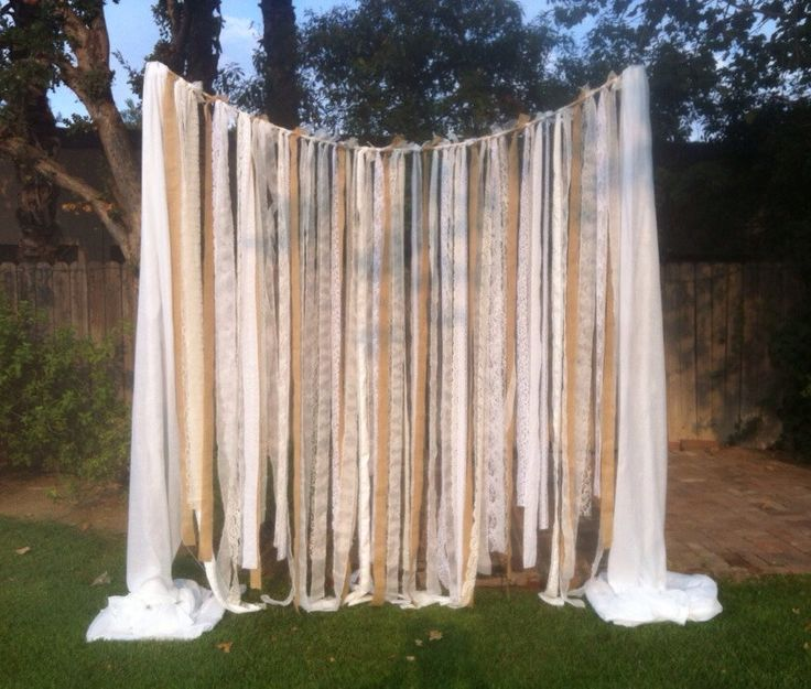 Burlap strips, possibly more horizontal would be preferable