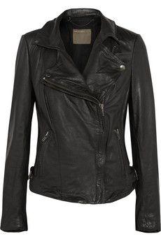 Muubaa Leather biker jacket   THE OUTNET