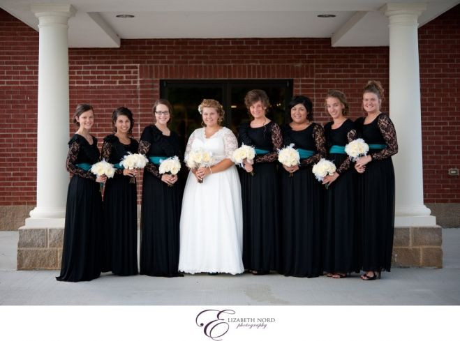Bridal party formal, pentecostal, wedding, tennessee, bridesmaids