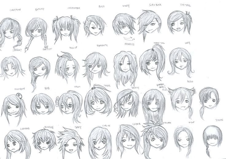 anime girl emo hairstyles | Anime Girl Hairstyles by ...