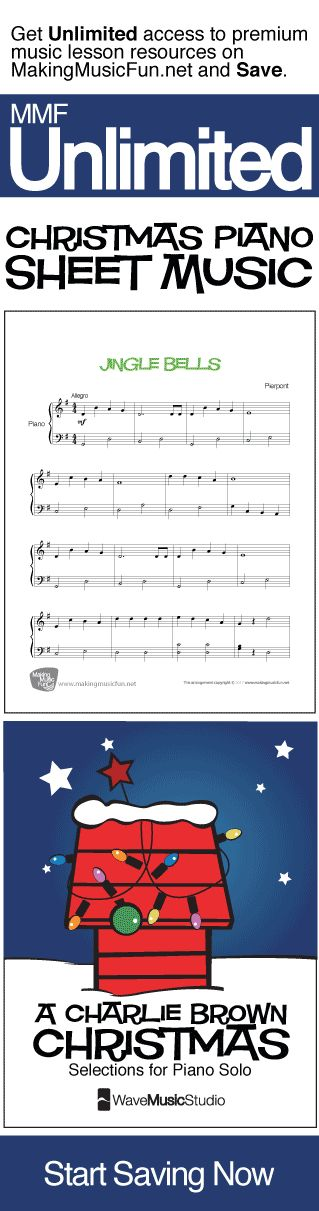 Get Unlimited beginner-easy Christmas piano sheet music and digital print books with MMF Unlimited and Save. MMF Unlimited gives you instant access to every music education resource on MakingMusicFun.net for one year at a great price.