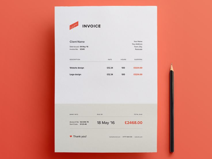 Download Simple and Creative Invoice Template