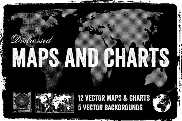 Distressed Vector Maps & Charts by Offset on Creative Market