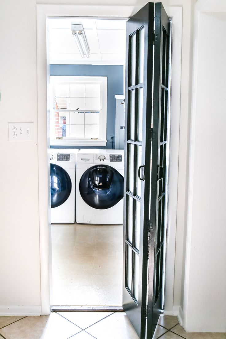 laundry room updates french bifold door laundry rooms
