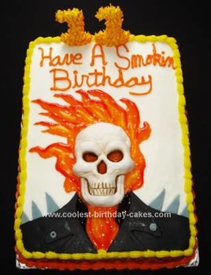ghost Rider Cake: Birthday Parties, 5Th Birthday, 11Th Birthday, 7Th Birthday, Dawson Birthday, Halloween Cakes, Ghosts Rider Cakes, Birthday Ideas, Birthday Cakes