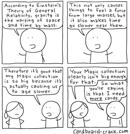 Here are more Magic: The Gathering physics comics.