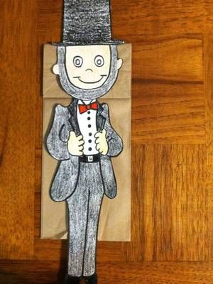Abraham Lincoln Paper Bag Puppet From Melissas Corner On