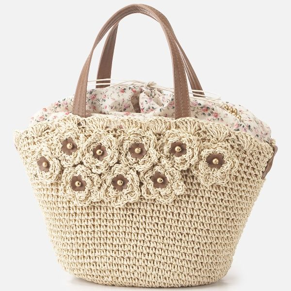 LEST ROSE crochet flower purse bag