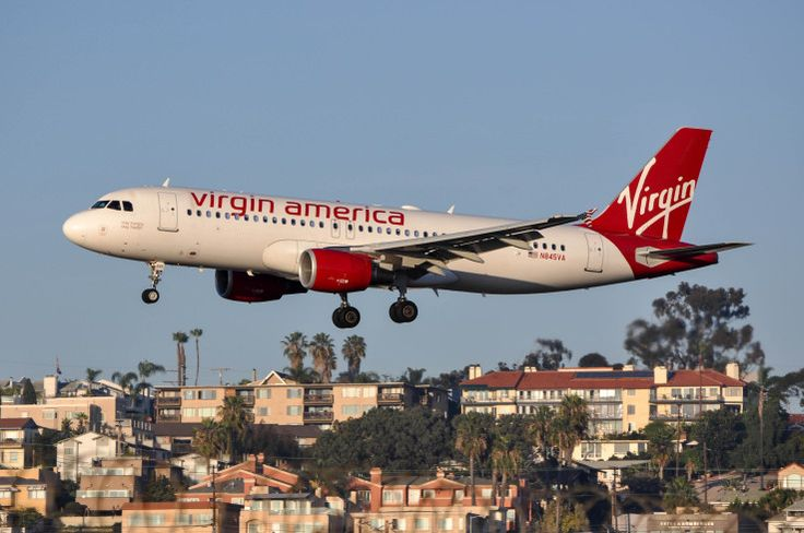 Virgin America A320 catching the late-afternoon light at SAN on February 4, 2015.