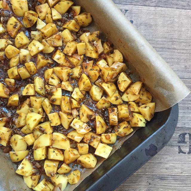 LanisLeckerEcke: Knusprige Honigkartoffeln mit Blattsalat