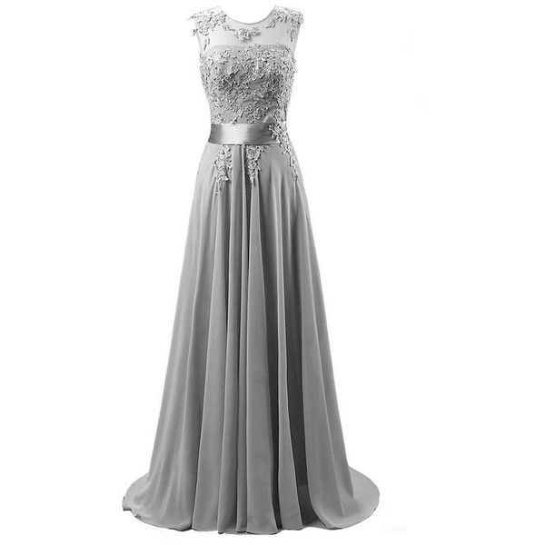 Edaier Women's Beaded Chiffon Evening Dresses at Amazon Women's... (3,640 INR) ❤ liked on Polyvore featuring dresses, beaded dresses, beaded chiffon dress, beaded cocktail dress, chiffon dresses and beading dress