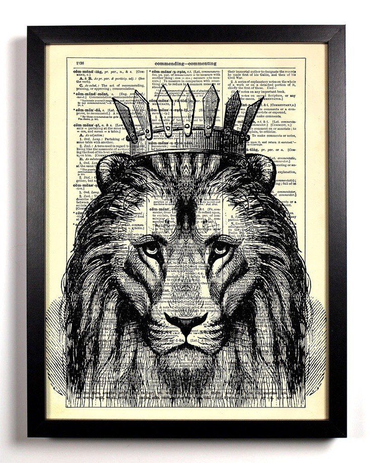 I LOVE...being a LEO.  Vintage Dictionary Page $7
