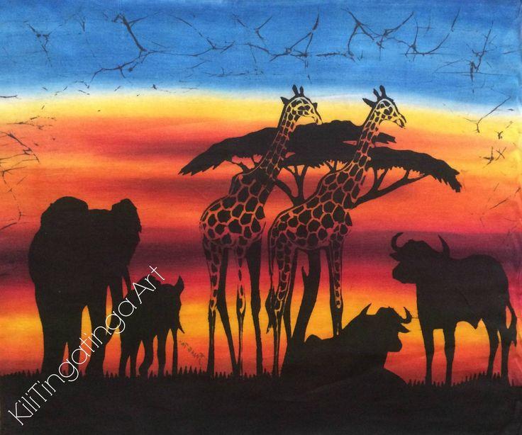 Importing original Tingatinga art in an effort to create a tangible income to impoverished communities in Dar Es Salaam, Tanzania. www.kilitingating... #art #africa #africanart #batik #new #newproduct #tingatinga #sunset #homedecor #decor #design #style #picoftheday #animals #interiordesign #interior