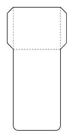 Library Card Pockets template for making charts, manipulatives, etc.