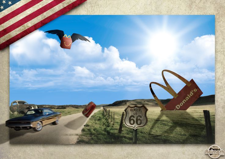 This piece was for a school assignment, where we had to make a picture for Route 66.