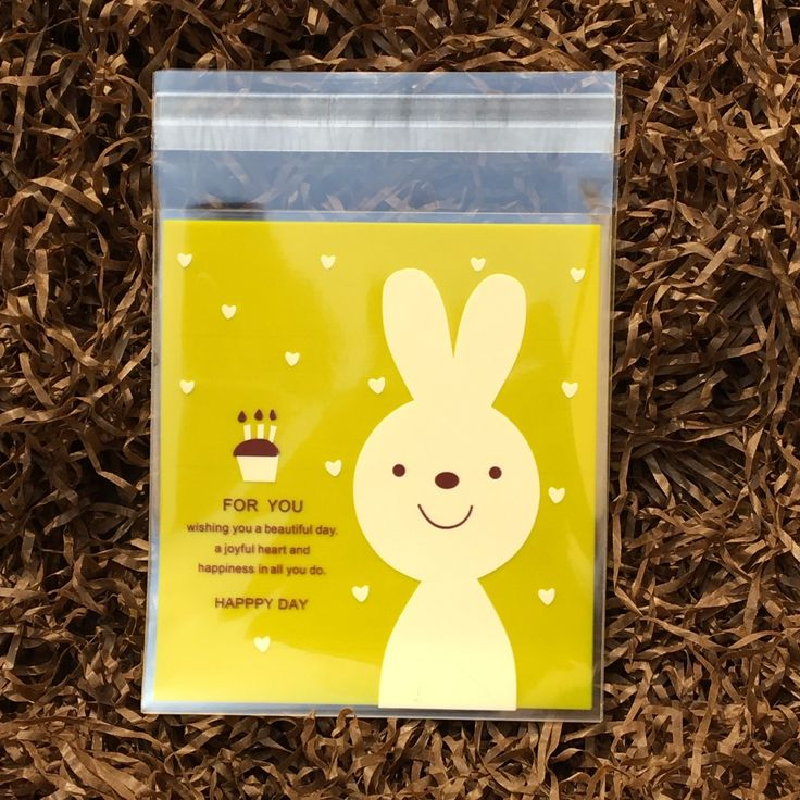 The 25 best cellophane gift bags ideas on pinterest diy cookie cheap bag for buy quality bags for candy directly from china bag snack suppliers happpy day yellow rabbit bag self adhesive cookie bags cellophane bag negle Image collections