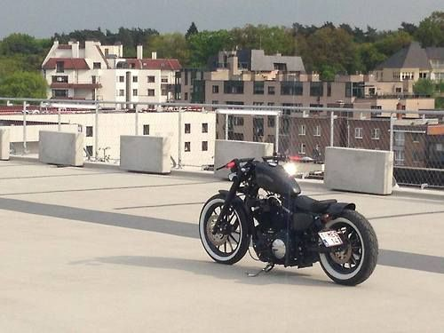 2012 Harley-Davidson Sportster iron 883 bobber by Nicky Boelen
