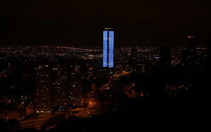 The Colpatria Tower in Bogota, Colombia.  Photograph: Fernando Vergara/AP