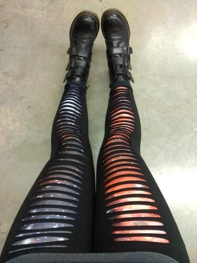 slits over galaxy leggings, galaxy leggings from black milk clothing.