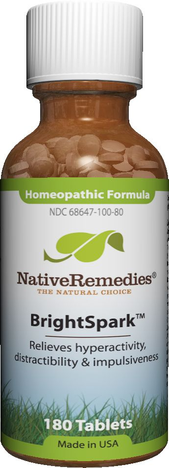 BrightSpark™ - Homeopathic remedy proven to temporarily relieve symptoms of attention problems