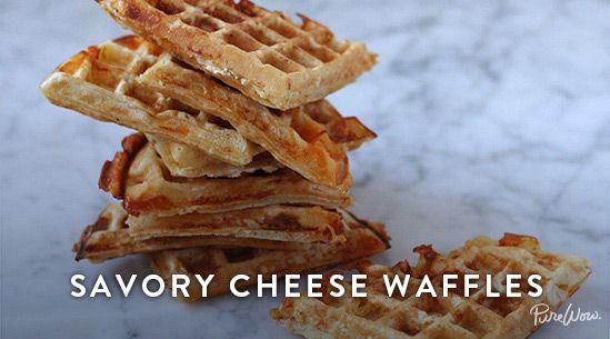 Savory Cheese Waffles   Recipe   Waffle iron, Count and Apple cinnamon