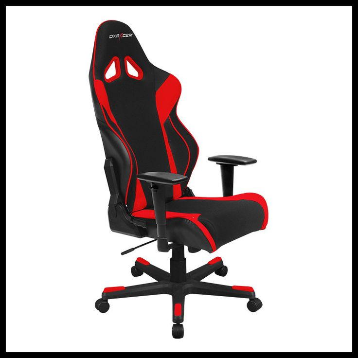 """DXRacer OH/RW106 Gaming Chair 3D Adjustable Arms/Conventional Tilt Mechanism/Inlaid Color Bar Base/PU cover/2"""" Caster The Racing Series is DXRacer's answer to those seeking affordable luxury. These ch"""