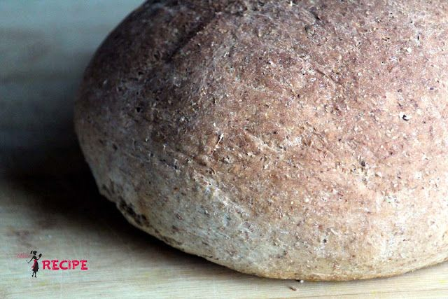 Pain de ménage blé entier et lin | Flax seeds and whole wheat bread - Miss-Recipe.com