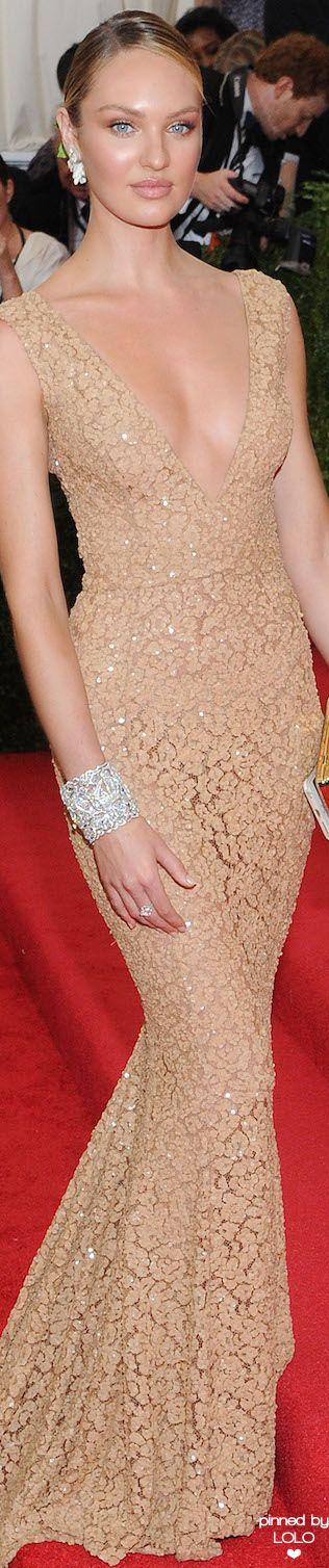 Candice Swanepoel in Michael Kors 2015 Met Gala | LOLO❤