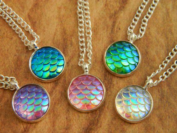 Mermaid Scales Necklace, Mermaid Jewellery, Scales Pendant, Mermaid Gift…